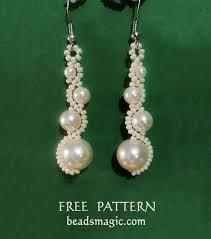 free pattern for earrings white moon beads magic free pattern
