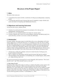 how to write an acknowledgement for a thesis comp 1181 project report structure