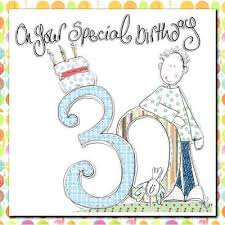 male 30th birthday card karenza paperie