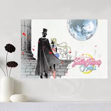 sailor moon canvas silk poster