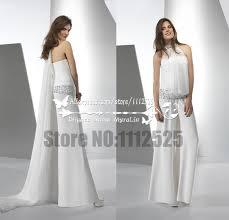 wedding dress jumpsuit aliexpress buy awp 1068 white chiffon bridal jumpsuit