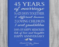 45 year anniversary gift 4th wedding anniversary gift or any year navy blue