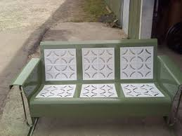 Antique Outdoor Benches For Sale by Powdercoated Restored Vintage Metal Patio Gliders Vintage Metal