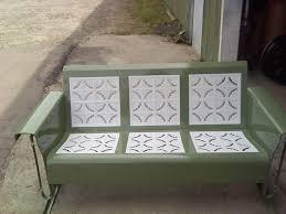 Old Metal Patio Furniture Powdercoated Restored Vintage Metal Patio Gliders Vintage Metal