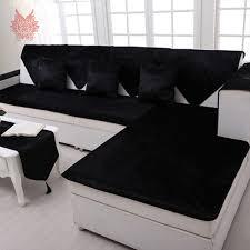 Black Sofa Slipcover Free Shipping Grey Camel Red Black Velvet Sofa Cover Flannel Plush