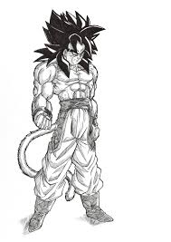 ssj4 coloring pages