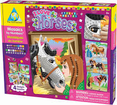 Gifts For Kids Under 10 Horse Themed Sticky Mosaics Crafts Project Gifts For Kids