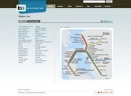 Bart Transit Map by Bay Area Rapid Transit U0027s Drupal 7 Site By Appnovation Technologies