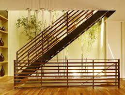 Modern Stair Handrails Wood Stair Railing Home Office Modern With Area Rug Carpeted