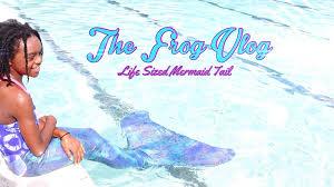 diy the frog vlog we make a life sized mermaid tail handmade