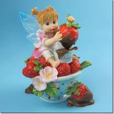 my kitchen fairies entire collection kitchen fairies item sku 4021009 chocolate dipper strawberry
