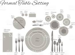 Formal Table Settings Diagram Of A Formal Table Setting Vector Stock Vector More