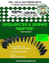 arithmetic and geometric sequences and series fun joke riddle