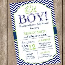 baby boy shower invitations oh boy baby shower invitation navy and lime green chevron