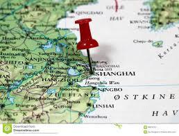 Shanghai Map Shanghai In China Stock Photo Image 66816157