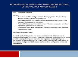 Keywords For Government Resumes Your Pursuit For Federal Employment Ppt Download