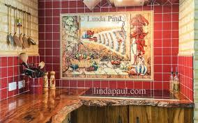 mural tiles for kitchen backsplash tile kitchen backsplash tile murals chili pepper kitchen