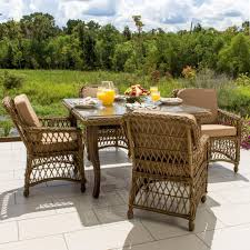 5 Piece Patio Dining Set by Everglades 5 Piece Honey Resin Wicker Patio Dining Set By Lakeview