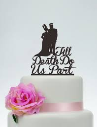 Halloween Wedding Cake by Wedding Cake Toppertill Death Do Us Partpersonalized Cake