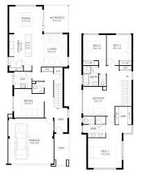two story house plan narrow lot storey house designs perth apg homes