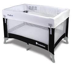 amazon com sleepfresh celebrity portable crib graphite 0 36