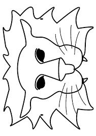 coloriage masque lion sur hugolescargot com