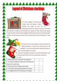 christmas comprehension worksheets free worksheets library