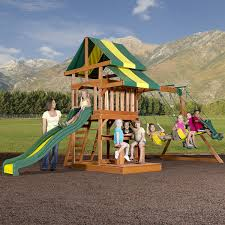 amazon com backyard discovery independence all cedar wood playset