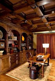 Masculine Home Office by Stunning Traditional Interior Design Without Making It Looks Dull