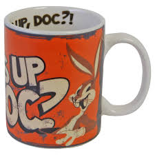 bugs bunny mug looney tunes cartoon whats up doc tea coffee cup