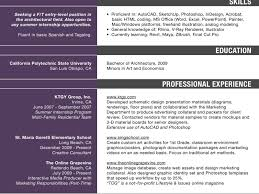 Canadian Resume Samples Canadian Resume Sample Architects Resume For Job Application