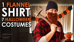 mens halloween costumes ideas homemade 1 flannel shirt 7 halloween costumes art of manliness youtube
