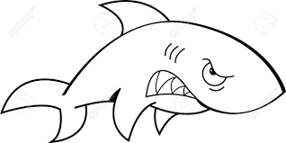 great white shark clipart angry shark pencil and in color great