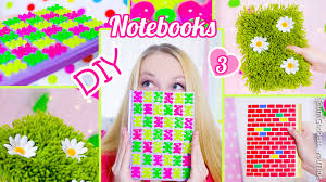 3 diy notebooks how to decorate notebook covers diy back to