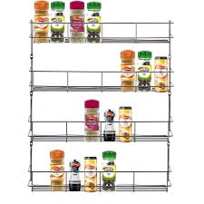 Wall Mount Spice Rack With Jars Wall Mount Spice Racks For Kitchen Voluptuo Us