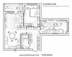 Floor Plan Standards Architecture Plans Furniture Icons Download Free Vector Art