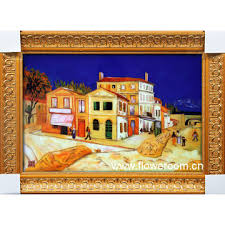 colorful handmade cloisonne painting van gogh abstract home decor
