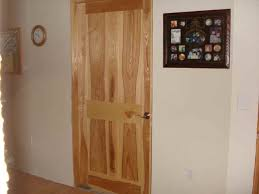 Two Panel Solid Wood Interior Doors Custom Made Solid Ash And Curly Yellow Birch Interior Doors