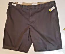 Comfort Waist Mens Shorts Izod Saltwater Gray Shorts Mens 46 Expandable Waist Flat Front