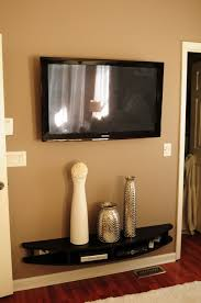 living tv wall mount shelves ikea dark grey stained wooden shelf