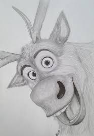 drawn frozen head pencil color drawn frozen head