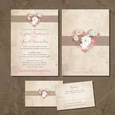 wedding invitation set vintage local wedding invitation set cottage chic pale