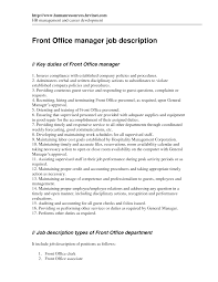 Office Job Resume by Office Manager Job Description Resume Resume For Your Job