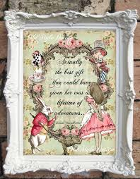 Alice In Wonderland Baby Shower Decorations - alice in wonderland print alice in wonderland decor vintage