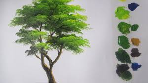 how to paint a tree in acrylics lesson 5 art painting