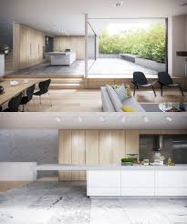 white and wood kitchen ideas kitchens matte white cabinetry the
