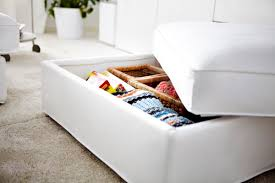 Kivik Ottoman Comfortable And Working Replace Your Coffee Table With The