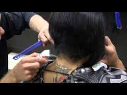 bob haircuts with weight lines short sexy a line bob womens haircut video youtube