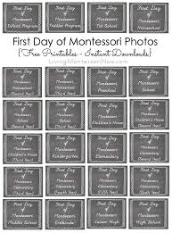 first day of montessori photos free printables instant