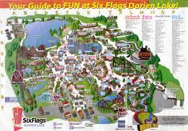 Six Flags Florida Theme Park Brochures Six Flags Darien Lake Theme Park Brochures